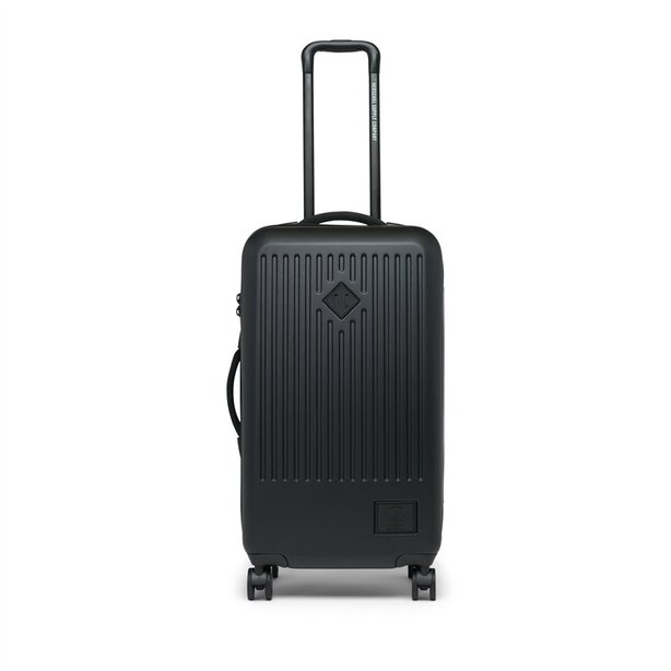 HERSCHEL TRADE MEDIUM HARD SHELL LUGGAGE - BLACK