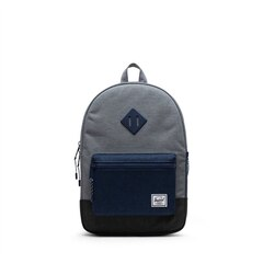 Herschel Heritage Backpack Youth Medieval Blue Grey Crosshatch