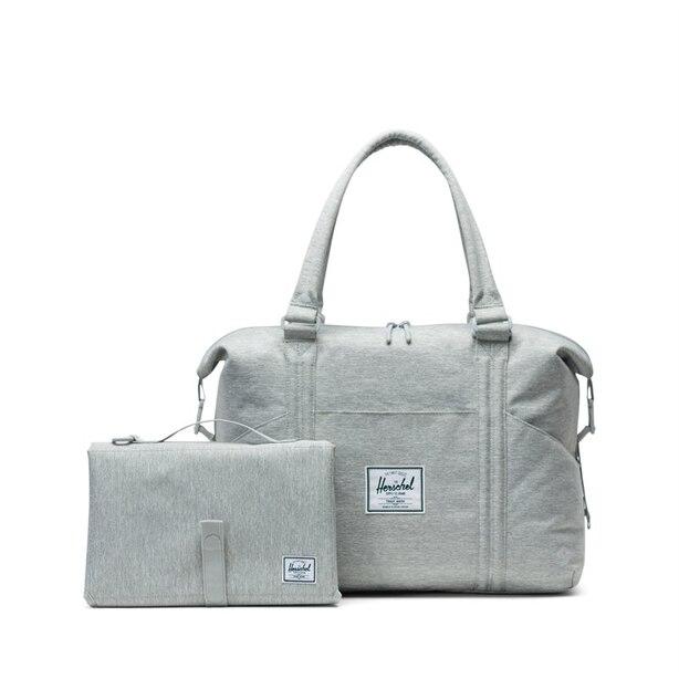 Strand Sprout Light Grey Crosshatch Diaper Bag