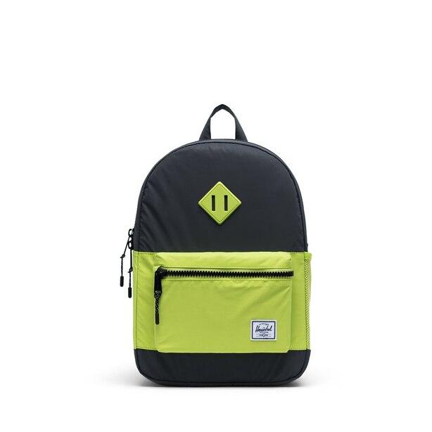 Herschel Heritage Youth Backpack Reflective Black/Lime Green