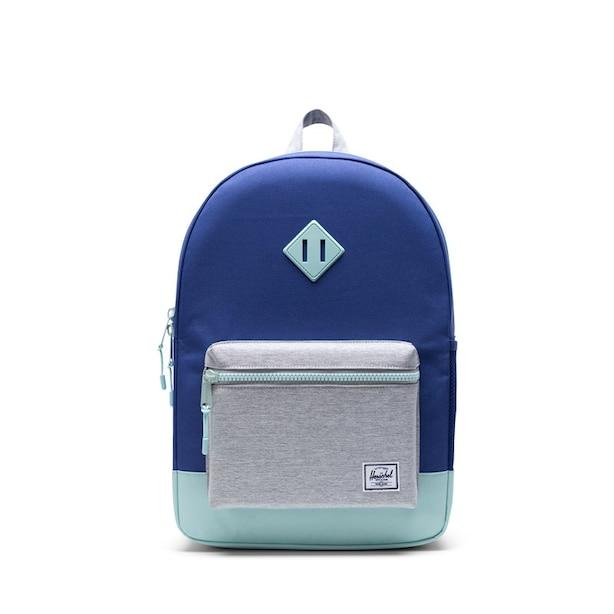 Herschel Heritage Youth Backpack X-Large-Orient Blue/Light Grey Crosshatch/Eggshell Blue