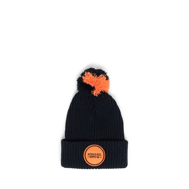 Herschel Sepp Youth Hat Black/Firecracker
