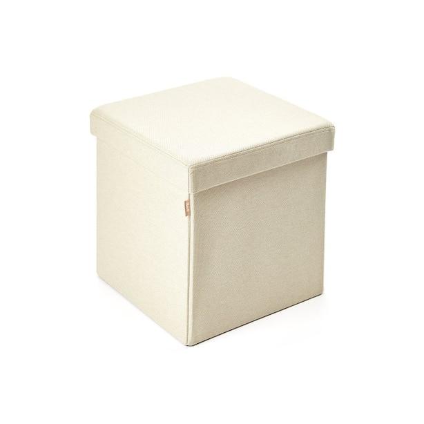 Kube Storage Ottoman – Peaceful Cream