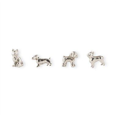 MAGNET DOGS SILVER SET OF 4