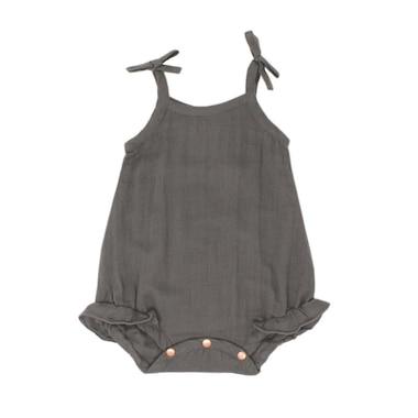 L'ovedbaby® Ruffle Bodysuit Grey 0-3 Months