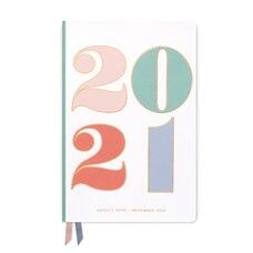 Agenda 2020-2021 17 mois à couverture souple en cuir coloré