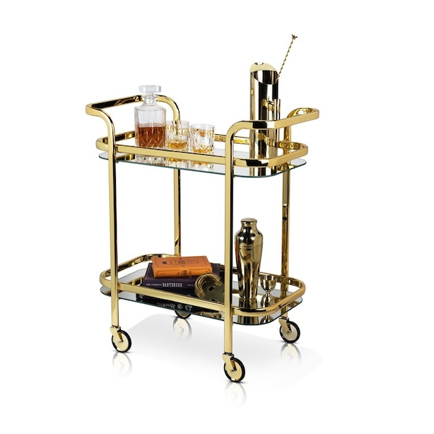 Belmont Gold Bar Cart