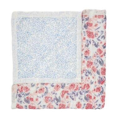 aden + anais® White Label Silky Soft Blanket Watercolour Garden