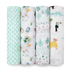 aden + anais® Classic Swaddle Around the World Set of 4