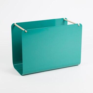 Arc Metal Hanging File Basket Green