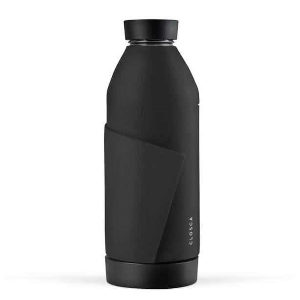 CLOSCA WATER BOTTLE BLACK NUDE 420ML