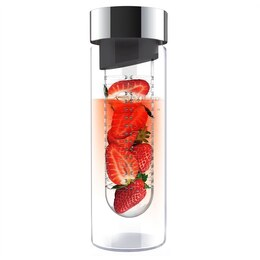 Pure Flavour It 2 Go Glass Water Bottle - Silver