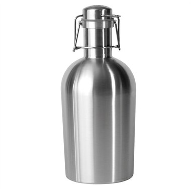 stainless steel 64 oz beer growler to go silver by asobu wine