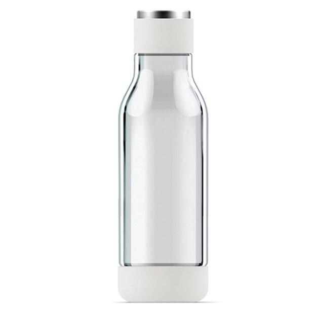 ASOBU INNER PEACE GLASS WATER BOTTLE - WHITE