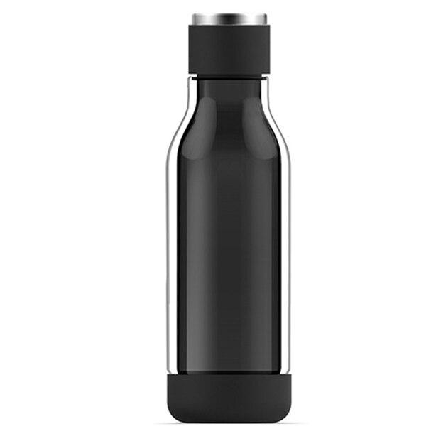 ASOBU INNER PEACE GLASS WATER BOTTLE - BLACK