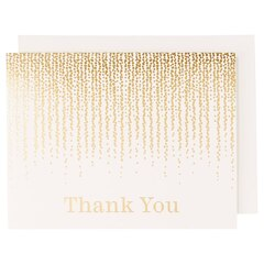 Waste Not Paper Chandelier Foil Thank You, Set of 10