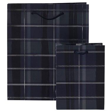 Gift Bag Bundle Navy Plaid