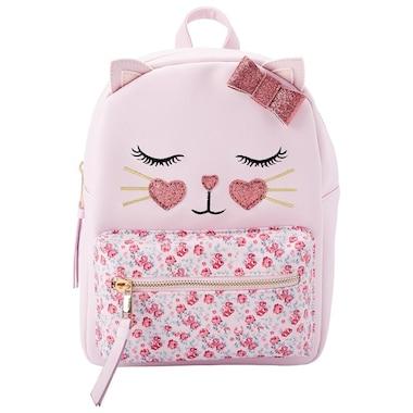 Under One Sky Backpack Pink Cat Floral