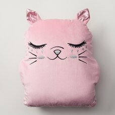 Under1Sky Throw Pillow and Blanket Set - Cat