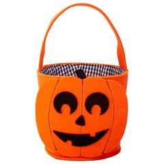 Felt Halloween Basket, Pumpkin