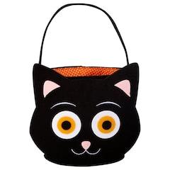 Felt Halloween Basket, Cat