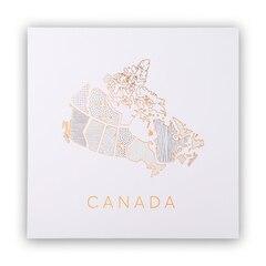 "Canada Map Art Print – 12"" x 12"