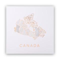 Reproduction Carte du Canada — 12 po x 12 po