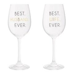 Stemmed Wine Glass – Set of 2, Husband & Wife