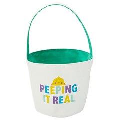 Kids Easter Basket Tote, Peepin' It Real