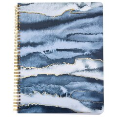 Large Spiral Notebook Watercolour Black Creation