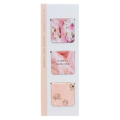 Magnetic Bookmark - Gilded Winterlude Pinks - Set of 3