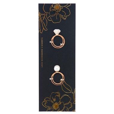 Metal Bookmark - Diamond & Pearl
