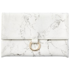 PENCIL POUCH FOLD CLASP MARBLE