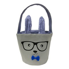 Andrews and Blaine Ltd® Easter Basket 100% Cotton Canvas Bunny Boy 6''