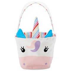 Andrews and Blaine Ltd® Easter Basket 100% Cotton Canvas Unicorn 6''