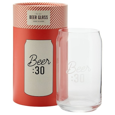 BEER THIRTY CAN BEER GLASS