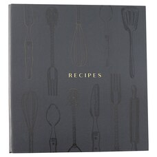 Recipe Binder Utensils Black
