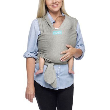 Moby® Grow with Baby Wrap Carrier 100% Cotton Heather Grey