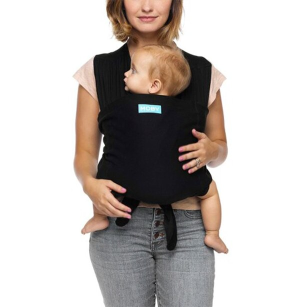 Moby® Fit 2-in-1 Grow with Baby Carrier and T-Shirt 100% Cotton Black