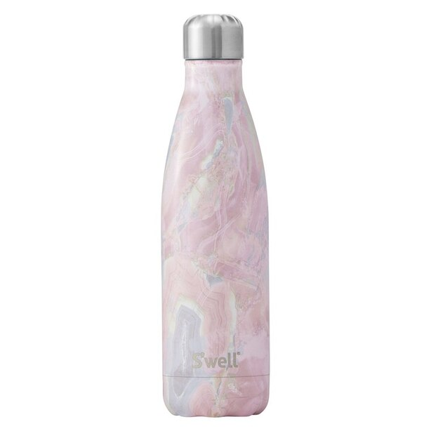 S'WELL GEODE ROSE WATER BOTTLE 17 OZ