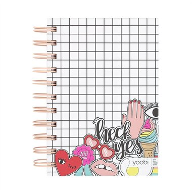 Yoobi™ Notebook Grid and Doodle Multicolour