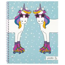 Yoobi™ Notebook Aqua Unicorn Ursula in Skates