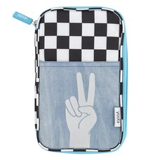Yoobi™ Double-Zipper Pencil Case Peace Hand
