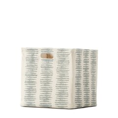 Static Stripe Storage Cube – Large, Mist