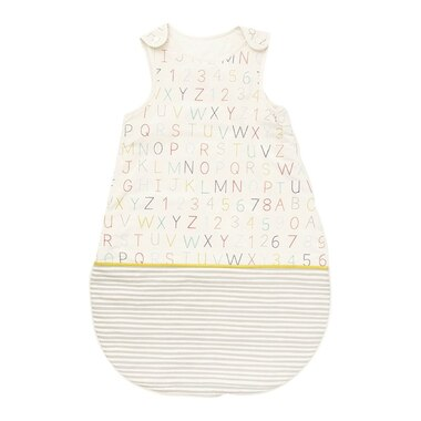 Pehr Bunting Bag Alphabet Grey 1.7 TOG 0-6 Months