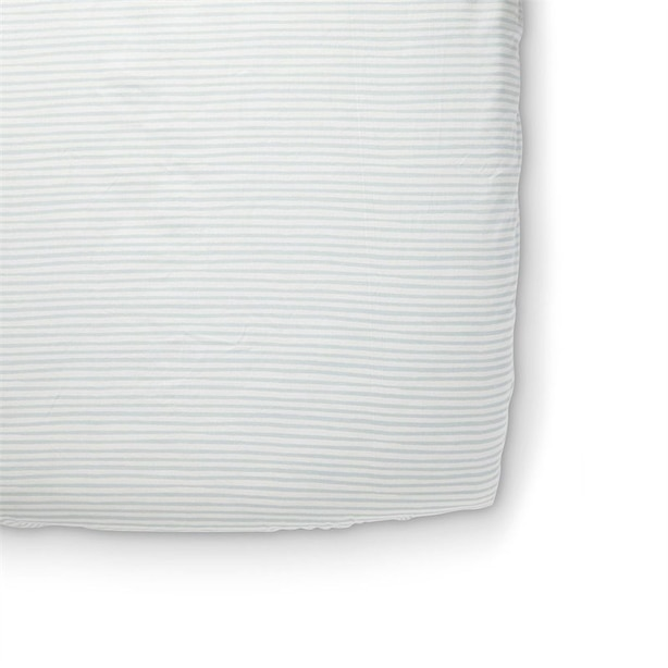 Pehr Crib Sheet Stripe Sea
