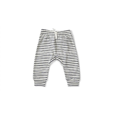 STRIPES AWAY HAREM PANT - INK 0-3 MONTHS