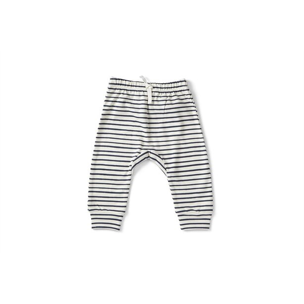 STRIPES AWAY HAREM PANT - INK 3-6 MONTHS