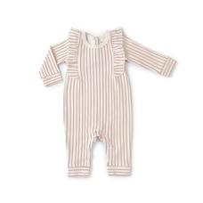 Stripes Away Ruffle Romper Dark Pink 0-3 Months
