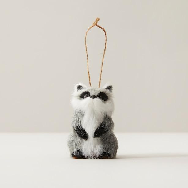 Glitterville® Faux Fur Raccoon Ornament
